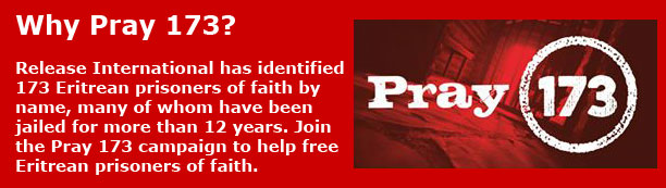 Pray 173 campaign banner