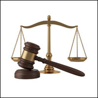 gavel & scales of justice